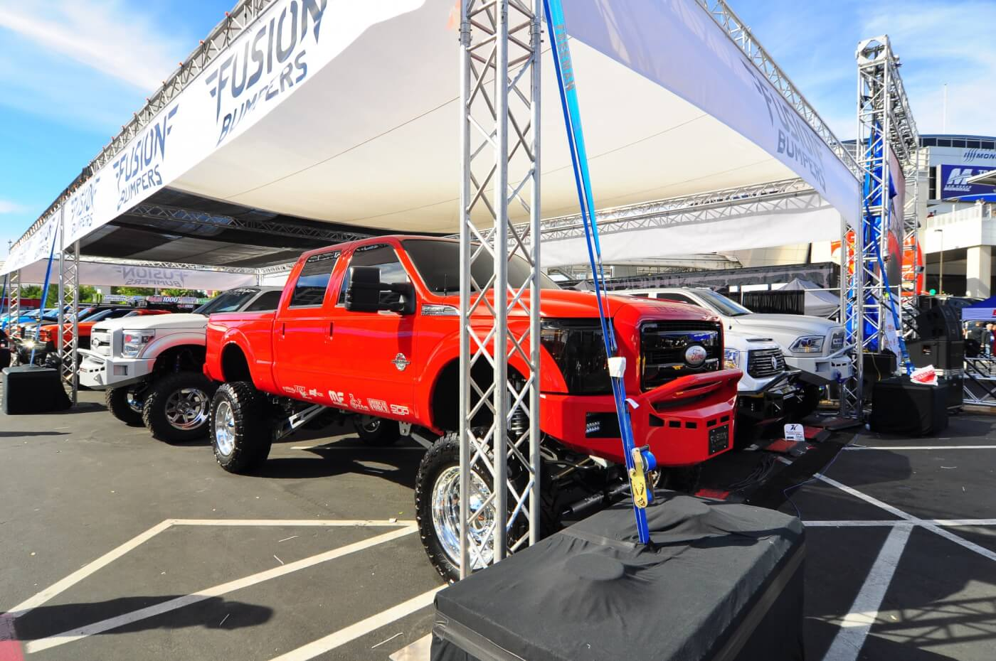 Fusion Bumpers had a massive showing this year with 46 heavily customized trucks on display. Every one being something we'd love to drive every day.