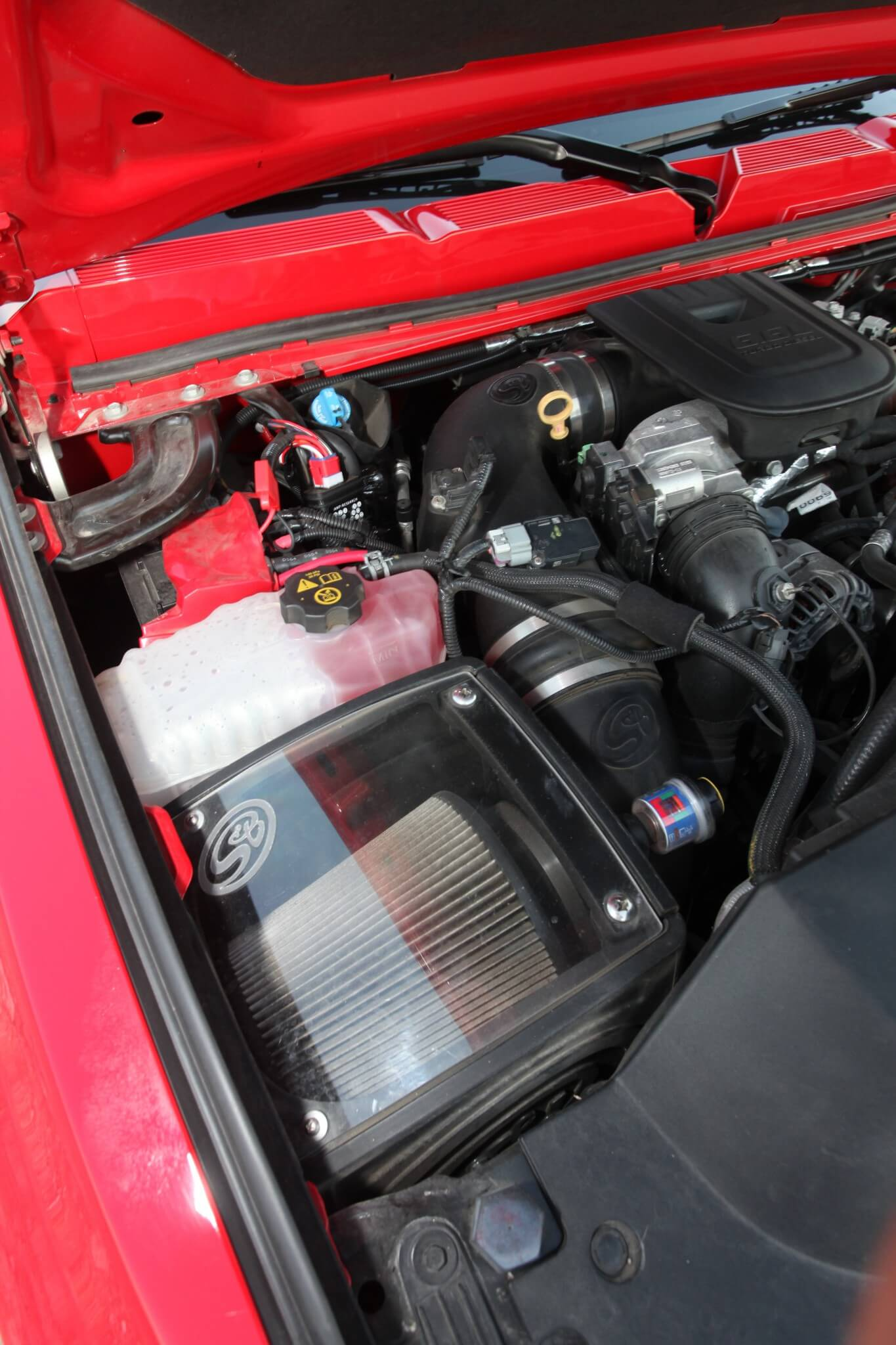 An S&B cold air intake and air filter make sure that clean air is not a problem.