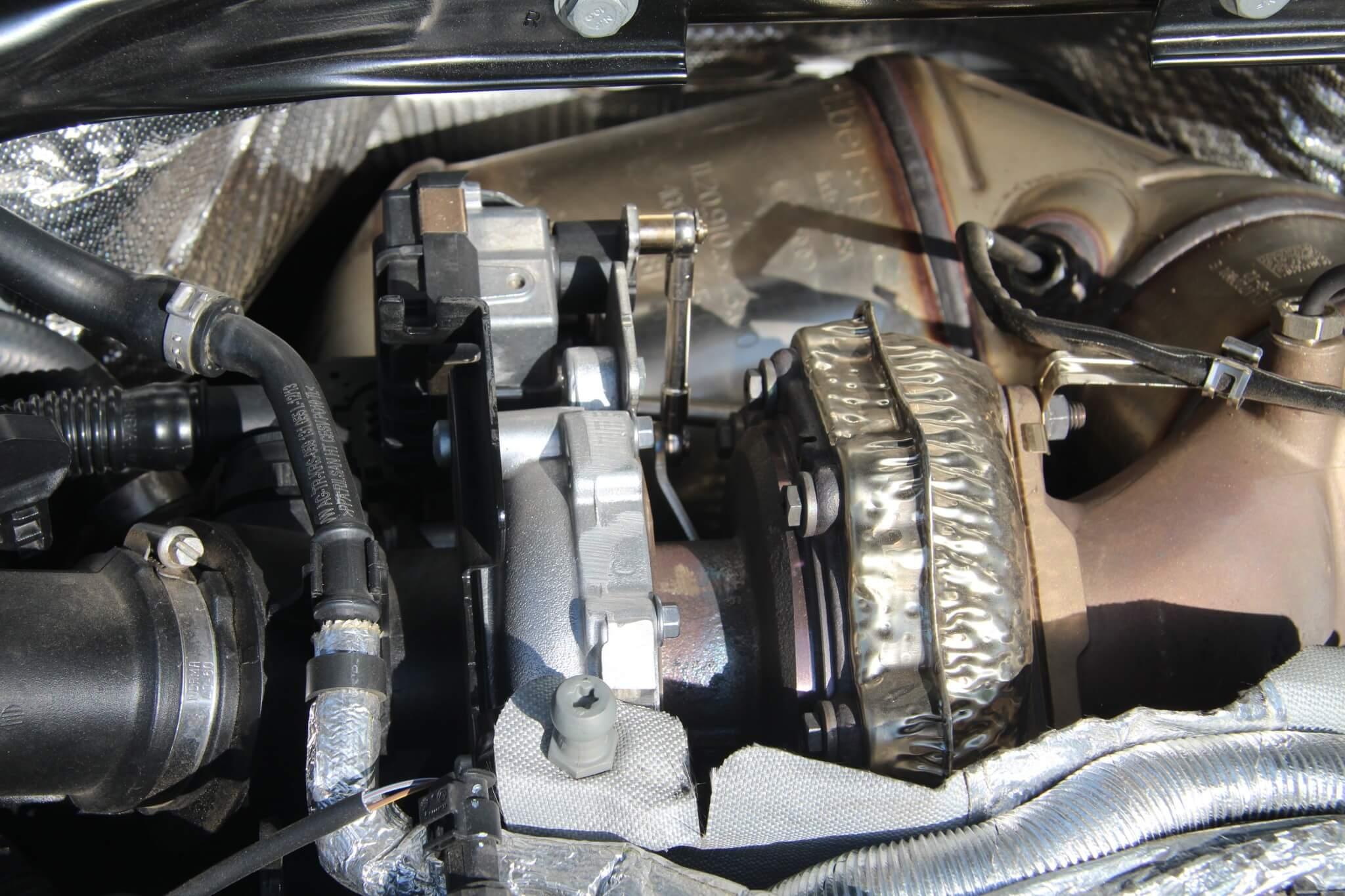 The Audi Q5 3.0L V-6 diesel uses a twin-turbo setup.