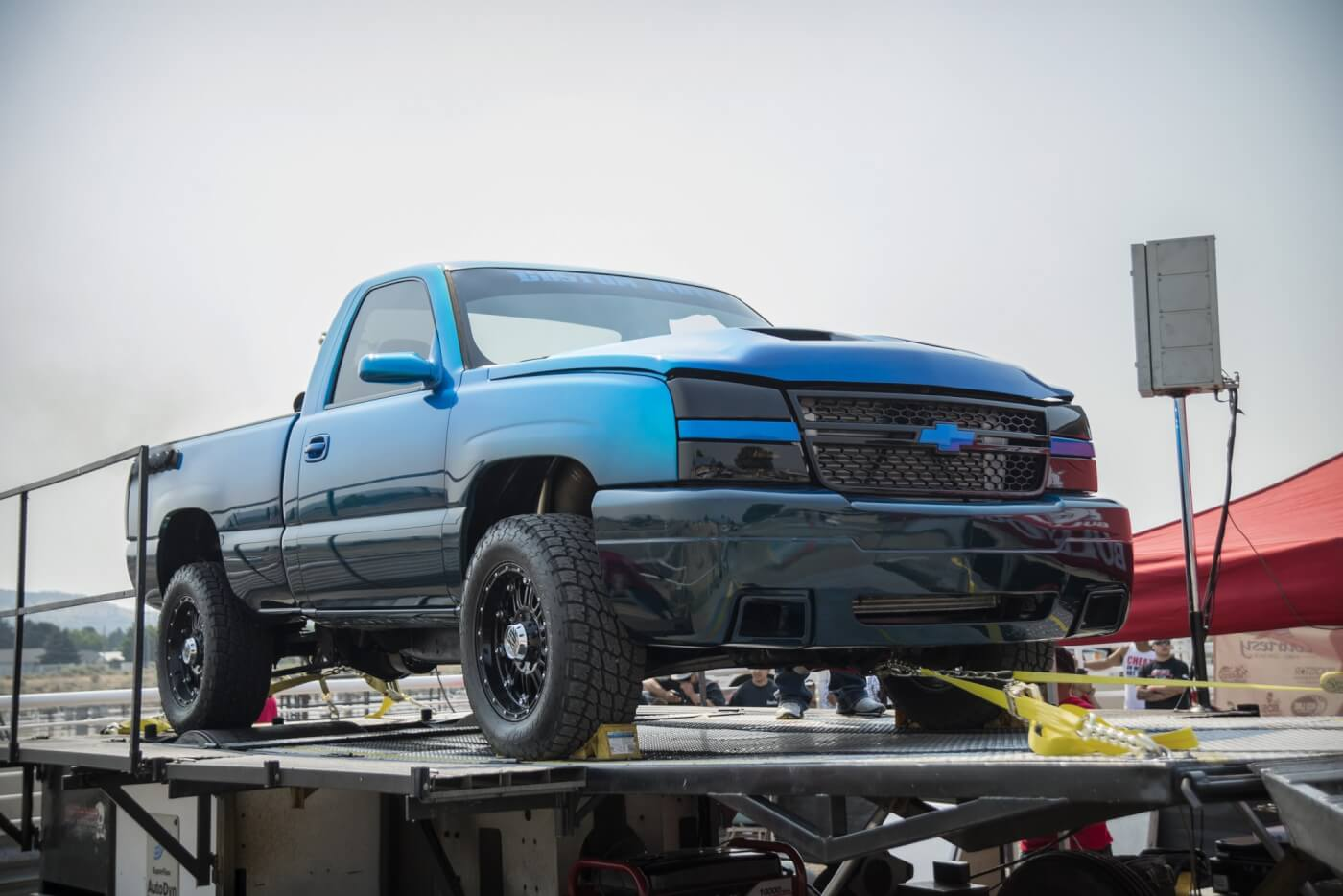 Custom Autos' purpose-built dyno truck always puts on a show and with a 1,331-horspower fuel-only run, it had enough to win top prize money on the day. A pair of ball bearing Garrett turbos, some big Industrial Injection injectors and CP3 pumps and their in-house built engine makes for a deadly combination when it comes to making power.