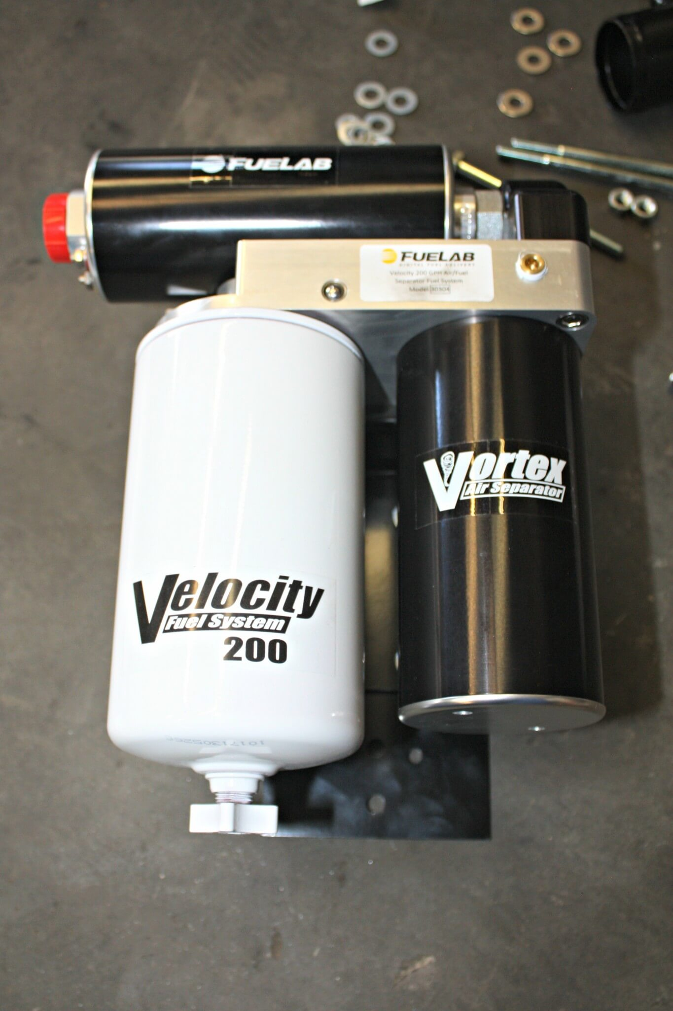 Using a rather large fuel filter with a built-in water separation feature