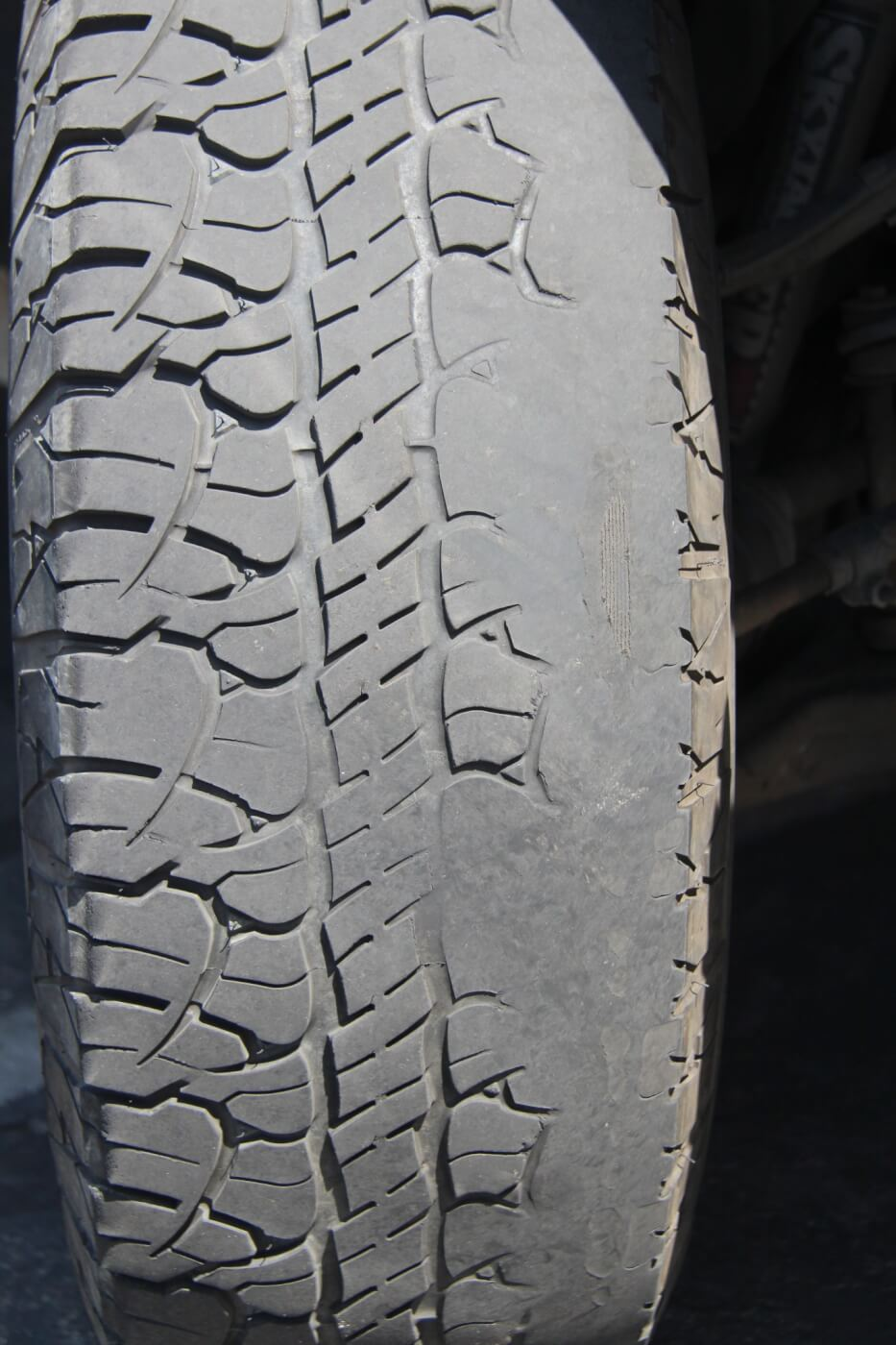 Besides providing poor steering response, a worn front end can and will cause excessive tire wear. GM's independent front suspension system is known for wearing the inside edge of tires, and worn components accelerate this greatly.