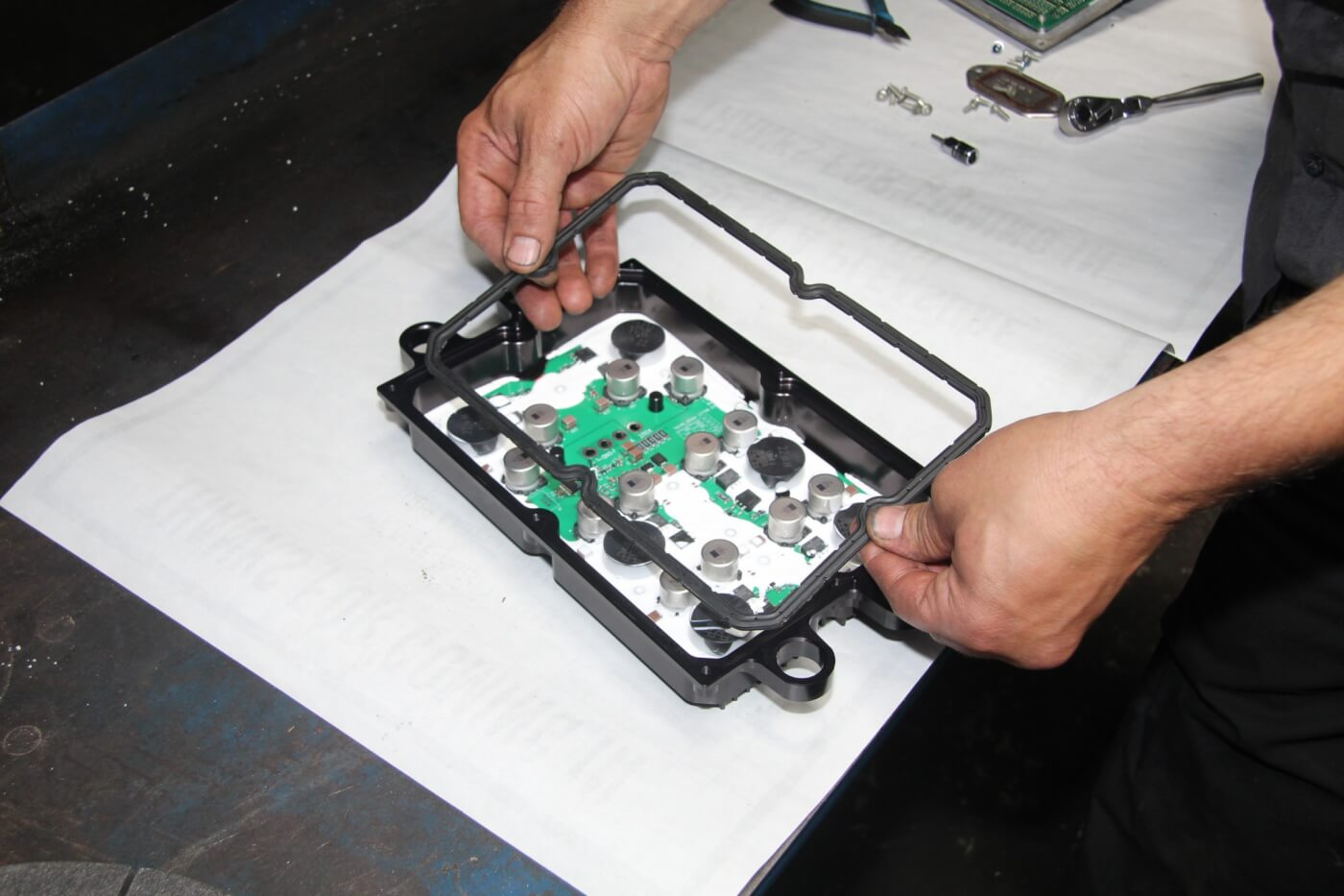 10. When reassembling the FICM with the Bullet Proof power supply, the OEM gasket is reused.