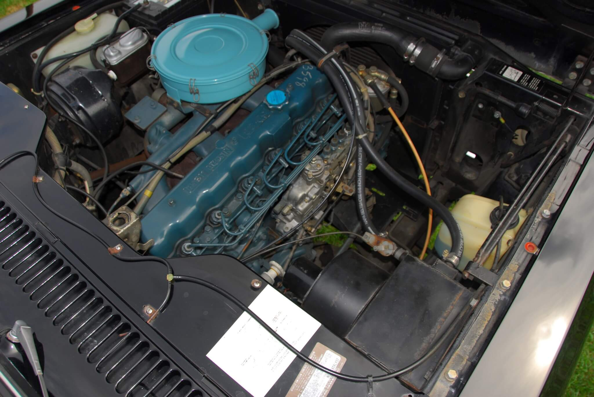 This unaltered SD33T in installed in a 1980 Scout. The engine fits well under the hood and weighs about the same as IH's smaller V-8s. Dimensions were similar to the AMC-sourced 232 and 258 inline sixes offered by IH in the past.