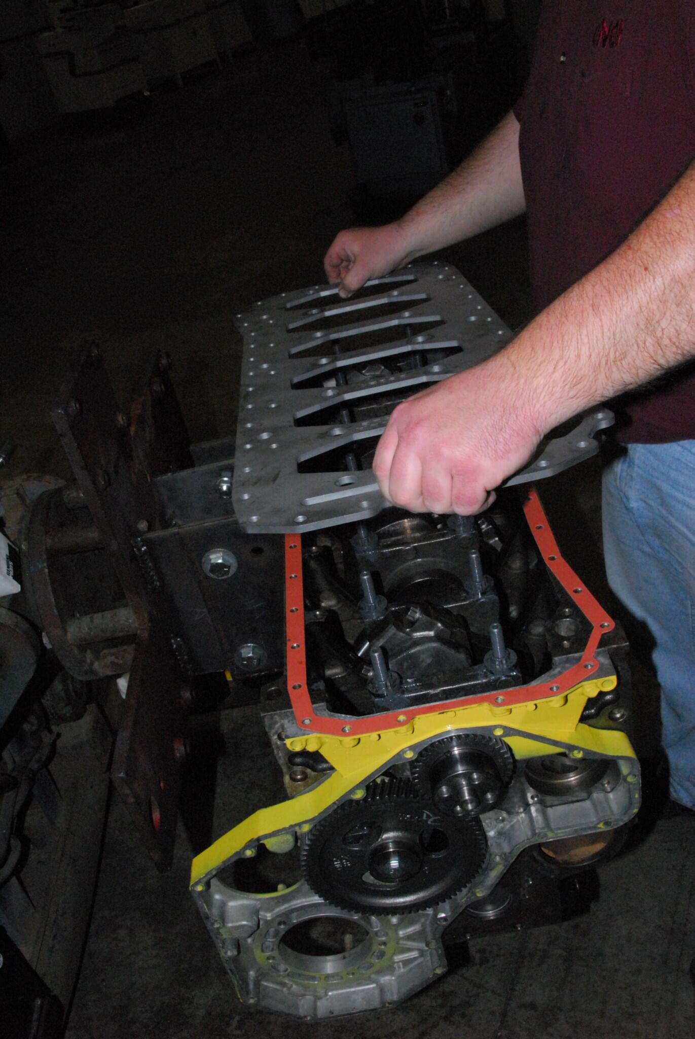 16. For engines that will be torn down regularly, Haisley recommends using the supplied gasket; for street engines that will go for years (or decades) before being disassembled, use RTV.