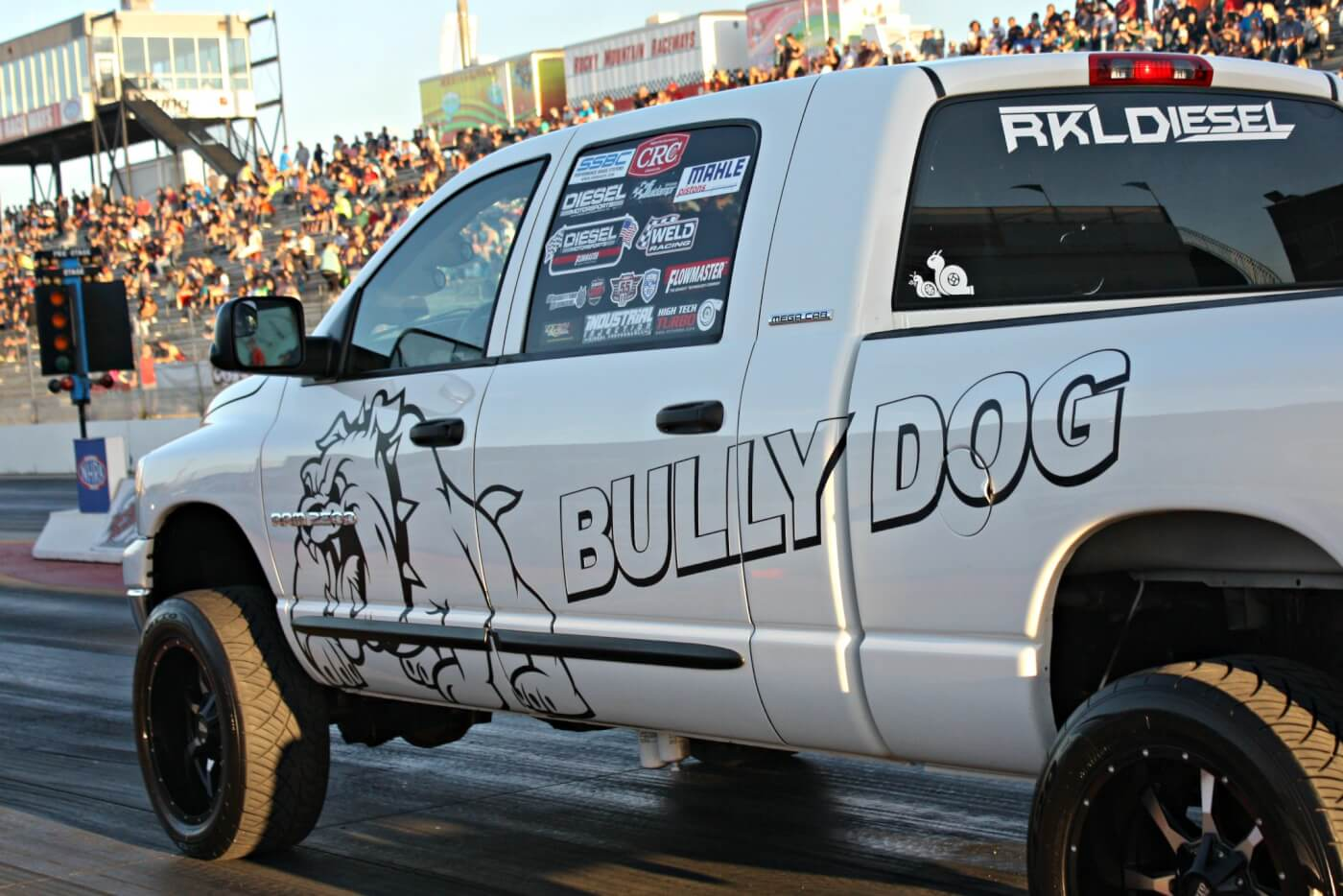Lyle Richmond, an employee at nearby Bully Dog, had his 5.9L Cummins Mega Cab out racing and made it into the final round of Quick Diesel against Verlon Southwick, only to have a broken flexplate end the race sooner than he'd hoped.
