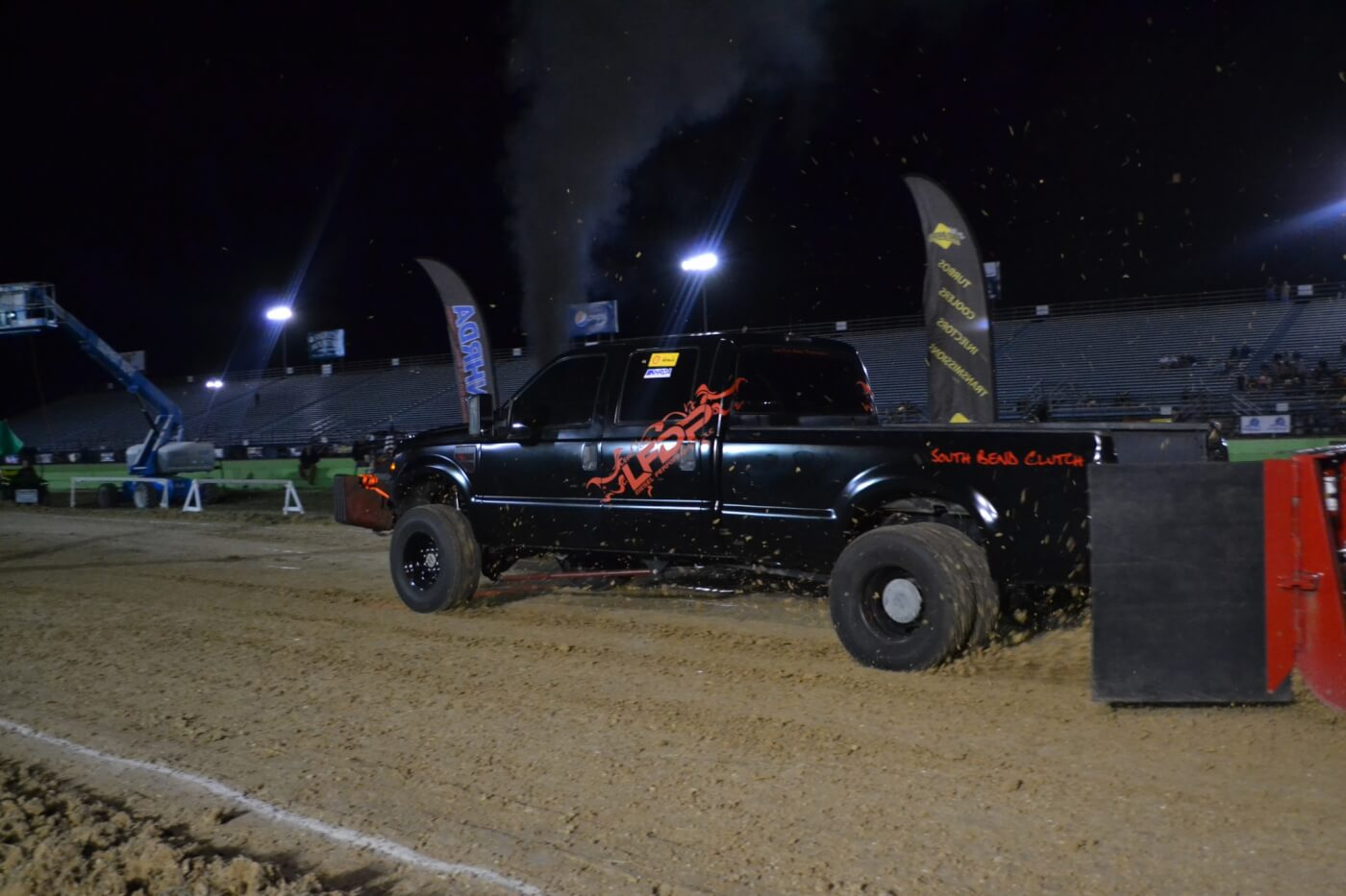 "Leadfoot Diesel Performance brought out their ""Turkey Truck,"" one of the only Ford-powered Fords in the class, and made a strong showing. The 6.4L placed 11th in the competitive 2.6 class with a 324.09-foot pull."