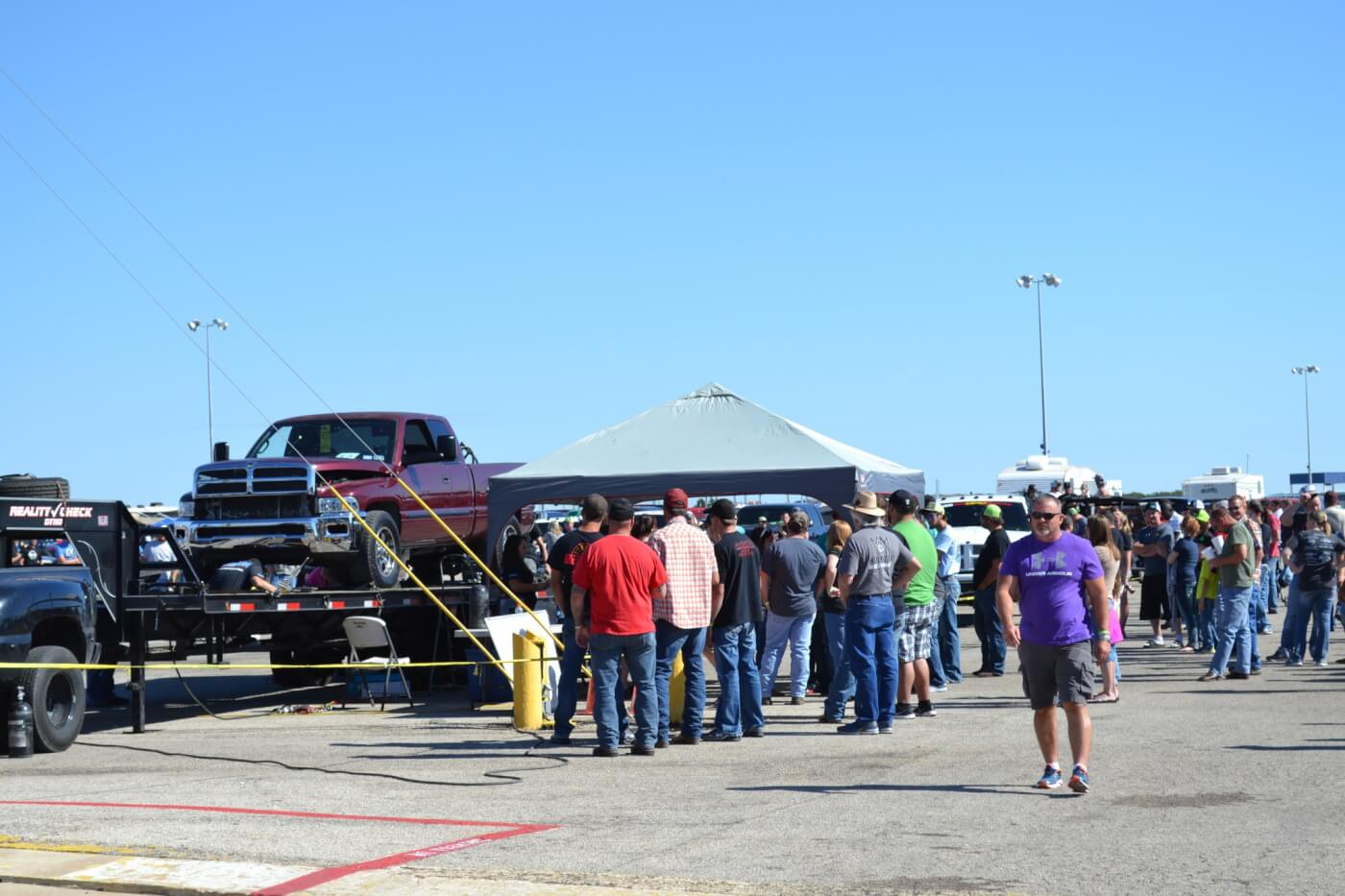 The Reality Check chassis dynomometer was on hand for anyone who wanted to test their street truck's mettle against the rollers. We were impressed by the number of powerful daily drivers, as 600-800 horsepower readings were common throughout the day.