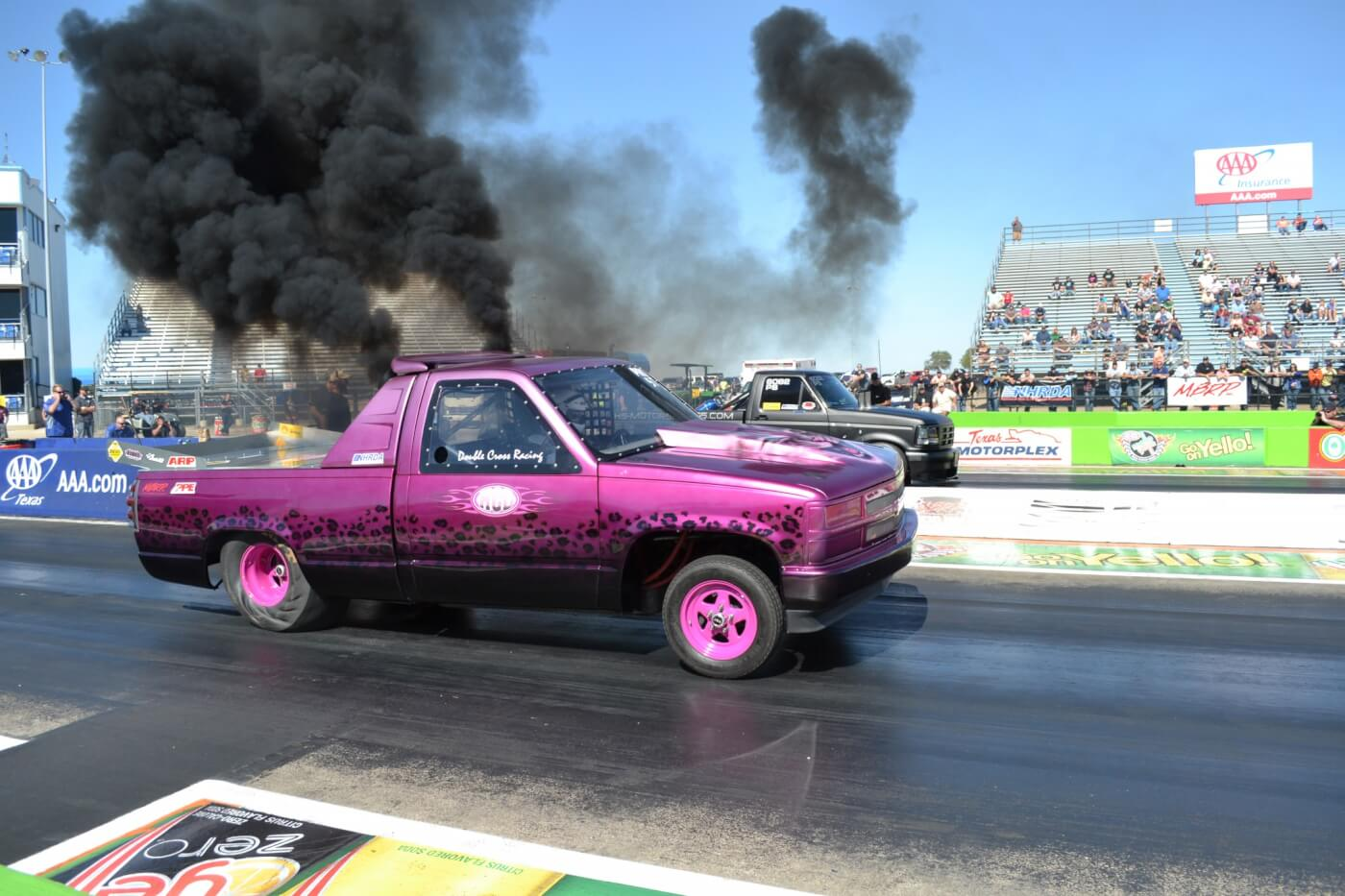 Malcolm Cross was another Canadian racer who made the trip and put on a good show. His brightly colored Cummins-powered Chevy managed a 9.17-second pass in Pro Street.