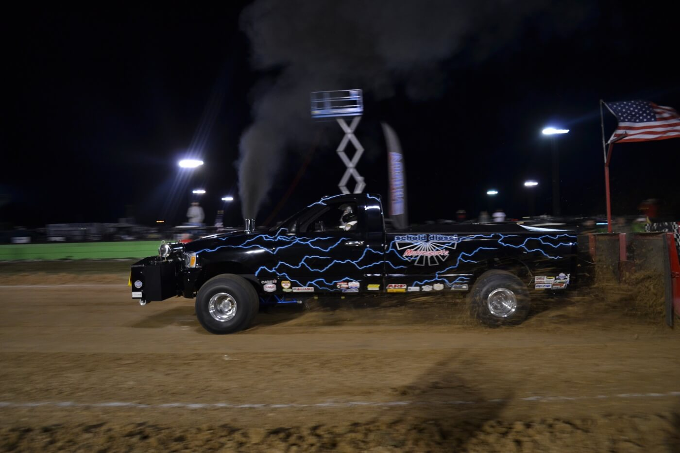 Sled pulling is a big draw at the World Finals, where competitors like Scheid Diesel were present with twin Cummins-powered 2,500-hp Super Stock Diesel trucks.