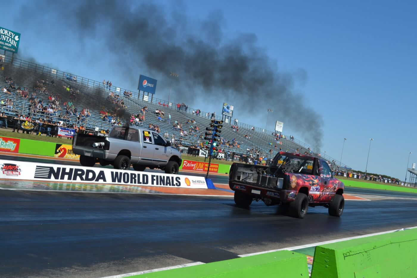 Many fast trucks were on hand for the 6,000-lb Super Street class, although it was Tyler Montgomery in the Duramax-powered Misery that would take the win, with a string of low 10-second passes.