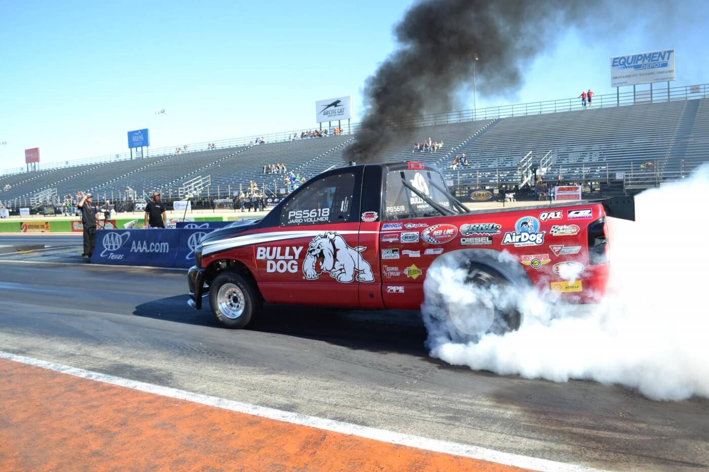 Bully Dog brought their famous record-holding Pro Street truck to the party and laid down a number of high eight-second passes. Their consistent performance made it look like they would be a shoe-in for the Pro Street finals.