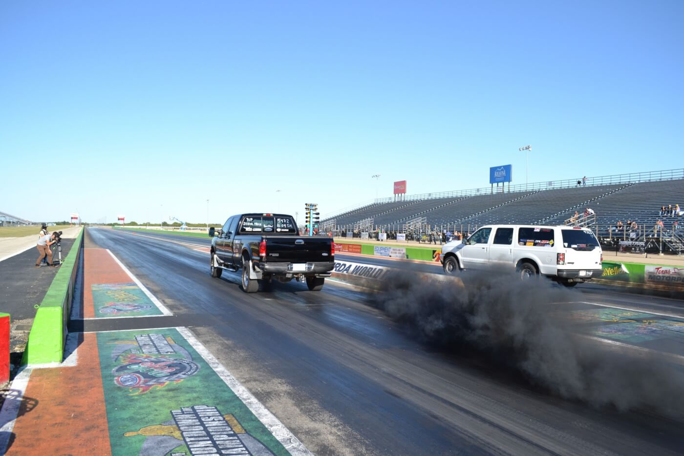 Consistency counts for everything in bracket racing, where Fords like this F-250 and Excursion made it through many rounds with good reaction times and great driving.