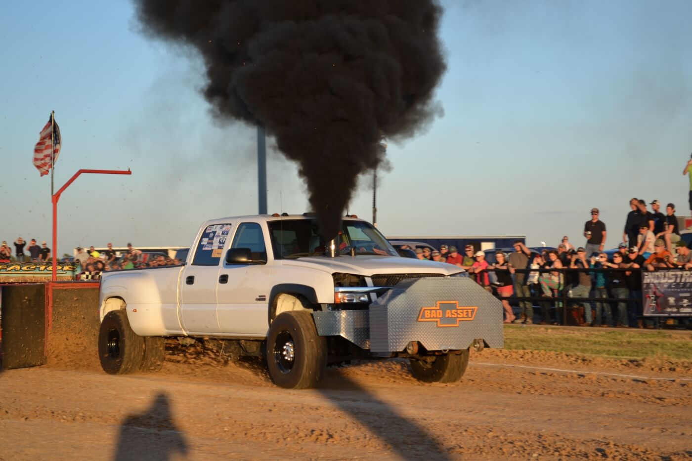 "Duramax-powered rides like the ""Bad Asset"" came to mix it up with the Cummins-powered crowd. The competition in 2.6 was tough, however, and this truck's 318-foot pull was only good enough for 18th place."