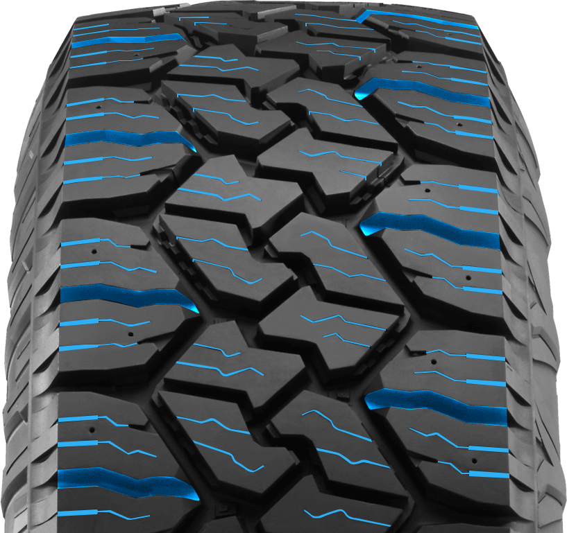 The EXO Grappler AWT is rated with the three-peak mountain snowflake symbol that denotes use for winter driving. The deep tread sipes and large lateral grooves provide biting edges as well as water and snow/slush evacuation. In addition, this tire comes pre-molded for optional TSMI #15 sized studs.