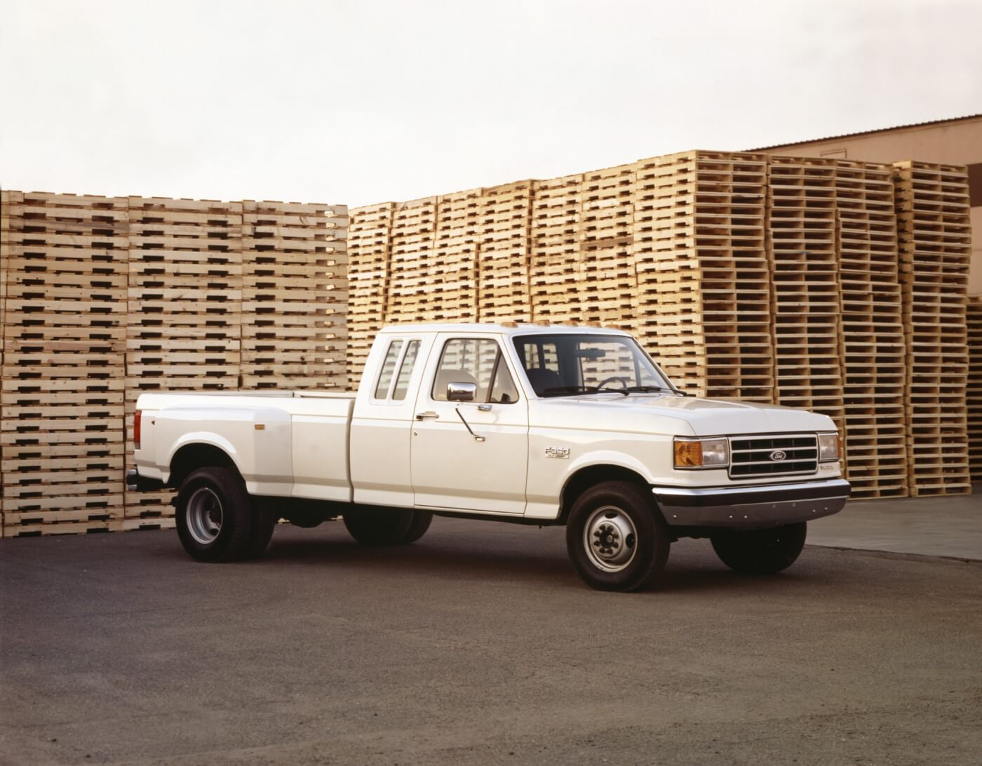 In 1990 you could get a diesel-powered SuperCab F-350 XLT Lariat dually