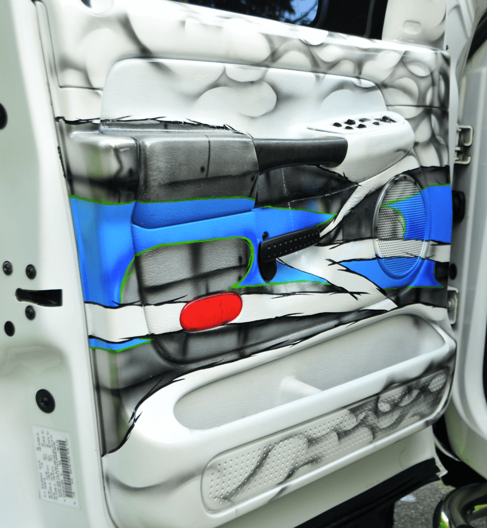 Donald Anderson airbrushed the truck inside and out.